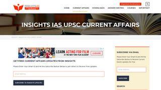INSIGHTS IAS UPSC CURRENT AFFAIRS - INSIGHTS