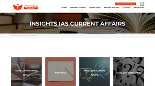 INSIGHTS IAS CURRENT AFFAIRS - INSIGHTS