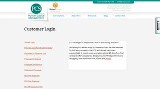 Customer Login | Payroll Control Systems