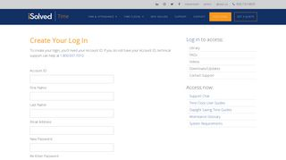 Create a Support Login | iSolvedTime.com