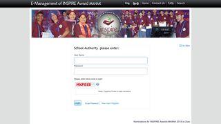 To Login - INSPIRE Award
