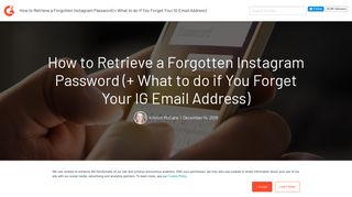 How to Retrieve a Forgotten Instagram Password (+ What to do if You ...