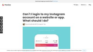 Can't I login to my Instagram account on a website or app. What to do?