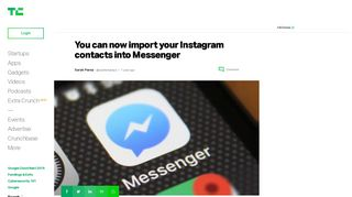 You can now import your Instagram contacts into Messenger ...