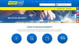 Receive Money – Instant Cash