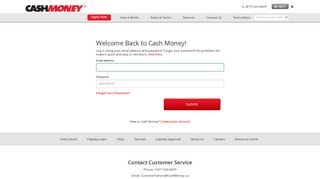 Cash Money - Log In to Your Account