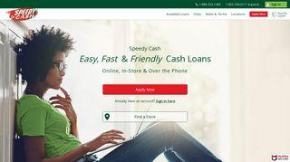 Speedy Cash Loans from $50 - $26,000
