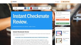 Instant Checkmate Review. | Smore Newsletters for Business