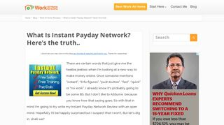 What Is Instant Payday Network? Here's the truth..