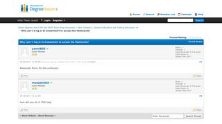 Why can't I log in to InstantCert to access the flashcards? - DegreeForum
