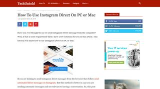 How To Use Instagram Direct On PC or Mac | TechUntold