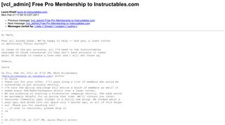 [vcl_admin] Free Pro Membership to Instructables.com - WebFaction