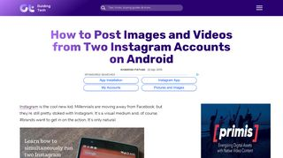 Android: Post Images, Videos from 2 Instagram Accounts - Guiding Tech