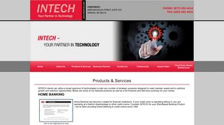 Products and Services - INTECH - Your Partner in Technology