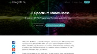 Full Spectrum Mindfulness | Integral Life Courses