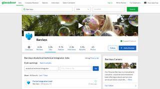 Barclays Analytical technical integrator Jobs | Glassdoor