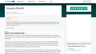 CareerMD   Integris Health Snapshot   CareerMD.com