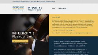 Integrity Login