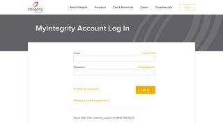 Account Login | Integrity Insurance