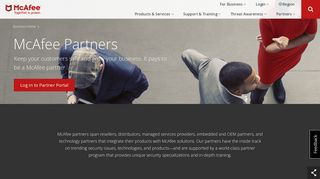 McAfee Partners, Resellers, and Distributors   Partners