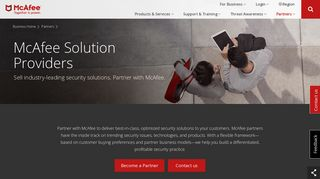 McAfee Solution Providers   McAfee Partner Program