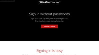 True Key | Say goodbye to the hassle of passwords