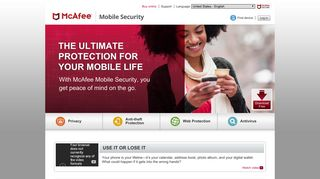 McAfee Mobile Security, the leading mobile security service for ...