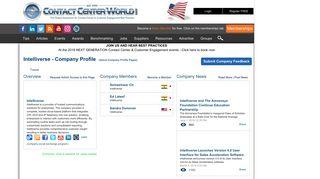 Intelliverse   ContactCenterWorld.com