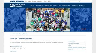 Interactive Collegiate Solutions | Indiana State University