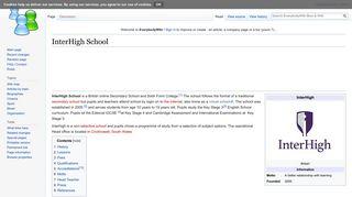 InterHigh School - EverybodyWiki Bios & Wiki