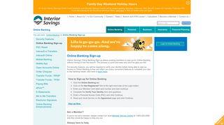 Online Banking - Interior Savings Credit Union
