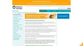 Interior Savings Credit Union - Online banking security enhancement