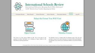 Select a Forum Member's Area | International Schools Review