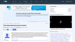 The international school review! | TES Community