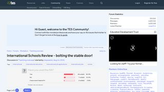 International Schools Review - bolting the stable door! | TES ...