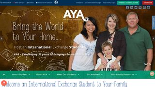 Academic Year in America: AYA   Host a Foreign Exchange Student