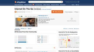 Internet On The Go Reviews - 20 Reviews of Internet-go.com | Sitejabber