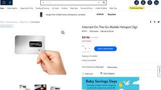 Internet On The Go Mobile Hotspot (3g) - Walmart.com