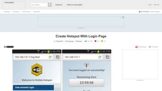 Create Hotspot With Login Page: 4 Steps