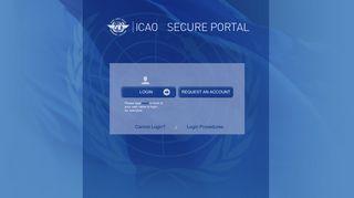 ICAO Portal login