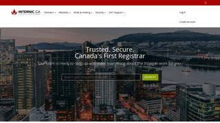 Internic.ca - Domain name registrar, website hosting, web security