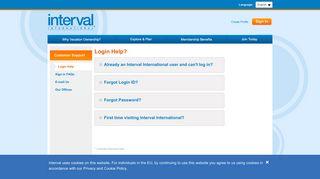 Forgot Sign In - Interval International