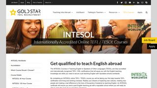 INTESOL - Online TESOL Courses for Teaching ESL Abroad