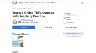 Trusted Online TEFL Courses with Teaching Practice | Go Overseas