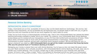 Internet Banking Palm Coast FL   Personal Online ... - Intracoastal Bank