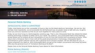 Personal Online Mobile Banking Palm Coast FL   Intracoastal Bank
