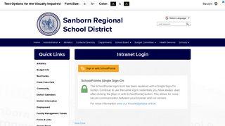 Intranet Login - Sanborn Regional School District