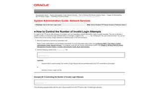 How to Control the Number of Invalid Login Attempts (System ...