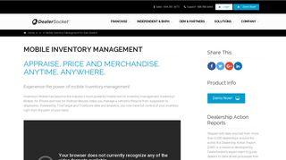 Mobile Inventory Management for Auto Dealers - DealerSocket