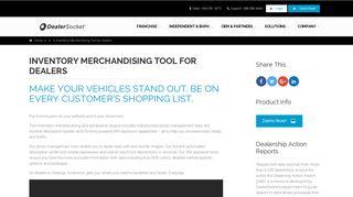 Inventory Merchandising Tool for Dealers - DealerSocket